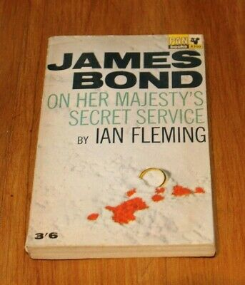 James Bond 007 On Her Majesty's Secret Service 1965 6th Printing • 4.49£