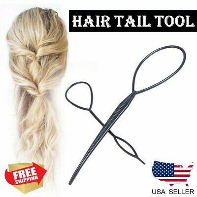 $2.99 • Buy 2PCS Fashion Topsy Magic Simple Tail Hair Braid Ponytail Maker Clip Styling Tool