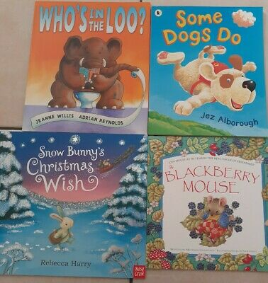 Four Children's Books, Whos In The Loo,Some Dogs Do,Snow Bunny,Blackberry Mouse! • 2.99£