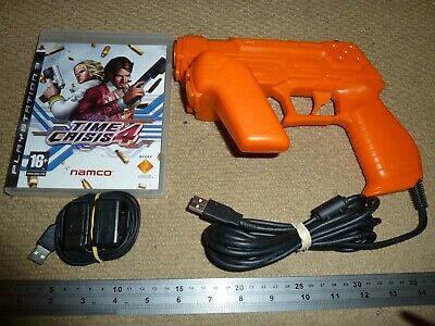 TIME CRISIS 4 GAME SONY PLAYSTATION PS3 OFFICIAL G-CON 3 LIGHT GUN + SENSOR Lot • 99.99£