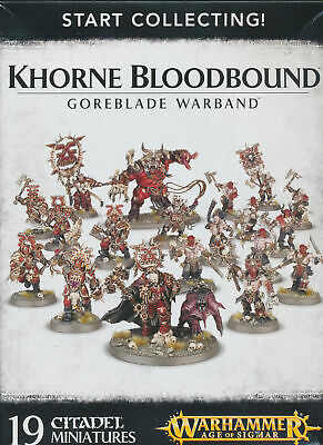 AU31.44 • Buy Warhammer Age Of Sigmar Start Collecting Khorne Bloodbound Goreblade Singles