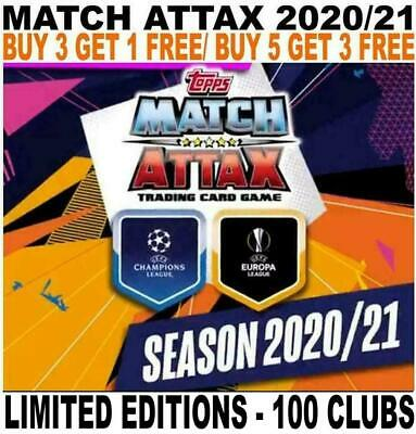 Match Attax 2020/21 20/21 Champions League  - 100 Clubs/ Limited Editions • 1.95£