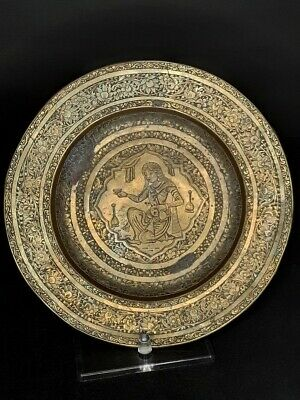Antique Hand Chased Brass Plate India • 34.72£