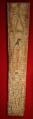 £9302.74 • Buy Late Dynastic Sarcophagus Painted Panel Isis