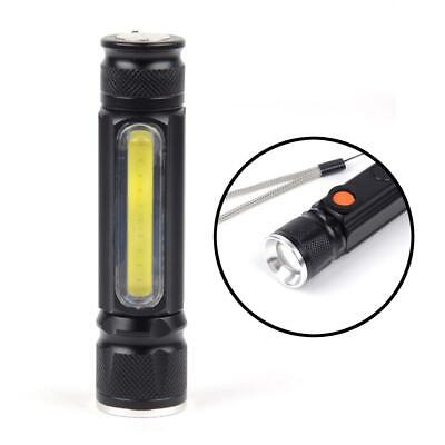 50000LM T6 LED Flashlight Waterproof Light Micro USB Zoomable Camping Torch EV • 12.20£