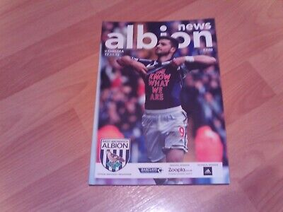 £2.49 • Buy West Brom V Chelsea Programme 2012/13 Season With Free Postage
