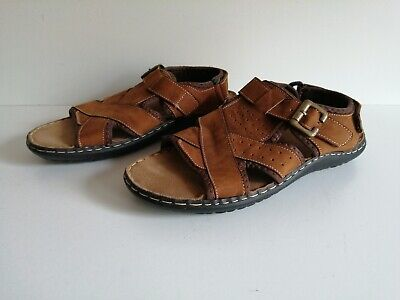 Mens Cotton Traders Sandals Gladiator Style Brown Size 7 UK • 12.99£