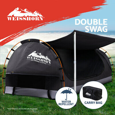 AU235.95 • Buy Weisshorn Double Swag Camping Swags Canvas Free Standing Dome Tent Dark Grey