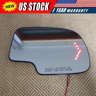 $19.75 • Buy Mirror Glass Heated Turn Signal Passenger Side RH For 03-2007 Chevy GMC Cadillac