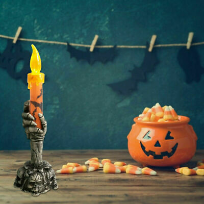 Halloween Skeleton Hand Led Lamp Candle Flame Light Stand Lamp Party Decoration • 4.49£