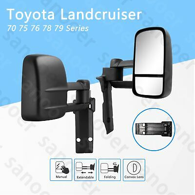 AU389.21 • Buy Manual Towing Mirrors Fit For Toyota LandCruiser 75 76 77 78 79 Series Extension