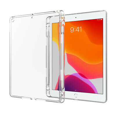 AU11.19 • Buy Clear Soft Case Cover Pencil Holder For Apple IPad 10.2 8th 7th Air 10.5 6th 5th