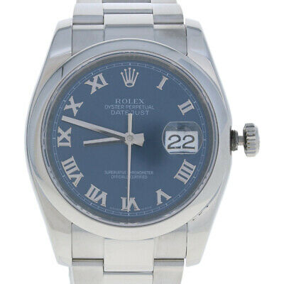$ CDN8000.38 • Buy Rolex Stainless Steel Watch - Men's Datejust Automatic Blue Roman Dial 116200