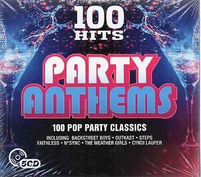 100 Hits-Party Anthems - Various Artists (CD 2016)  New • 6.99£