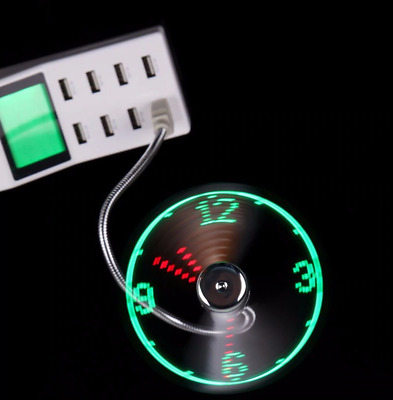 AU20.24 • Buy Fan Usb Led Clock Mini Time Display Real Cooling Flexible Function Adjustable