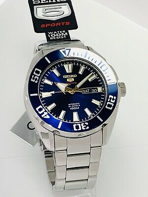 $ CDN250.81 • Buy SEIKO 5 Automatic SPORTS 100m 24 Jewels Blue Dial Stainless Steel SRPC51K1 NEW