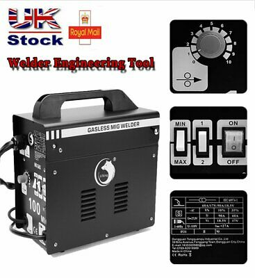 Gasless MIG Welder 100 New No Gas 90 Amp For Flux Welding With Thermal Protect • 115.76£