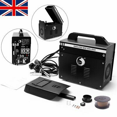 Gasless Portable MIG Welder 130 Amp Auto Flux Wire Feed Welding Machine 240V Kit • 134.99£