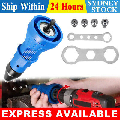 AU18.95 • Buy Rivet Gun Electric 4x Nut Adaptor Nutsert Tool 2x Wrench Rivnut Gun Adapter