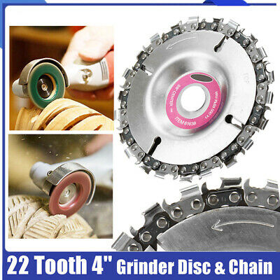 4'' Angle Grinder Disc 22 Tooth Chain Saw Blade For Wood Carving Cutting Tool UF • 4.79£