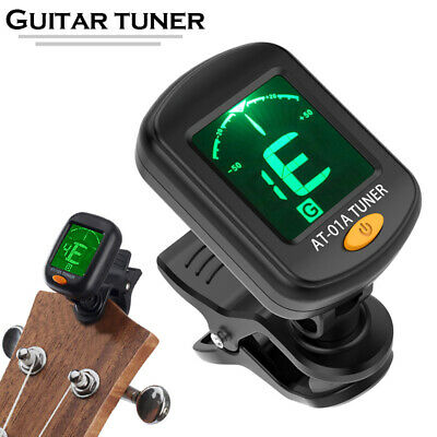 AU13.25 • Buy Chromatic Guitar Tuner Violin Ukulele Bass LCD Screen Electronic Digital Clip On