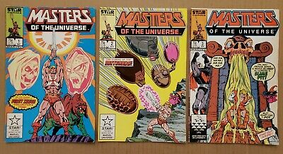 $30 • Buy Masters Of The Universe #1-3 Star Comics 1986 FN/VF