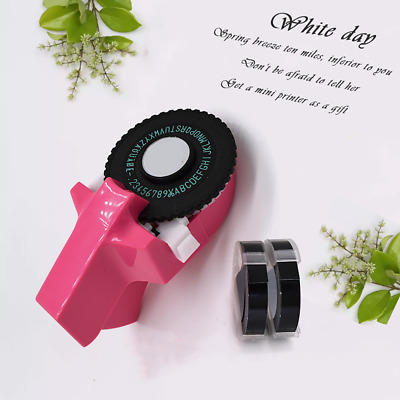 Manual Embossing Label Maker Letter Typewriter Printer Refill With Free 2 Tapes • 10.49£
