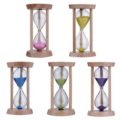 AU5.57 • Buy Wooden Sand Clock 3 Minutes Hourglass Sandglass Toothbrush Timer Kids Gift