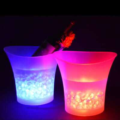 SMAD 5L LED Ice Bucket Wine Champagne Bar Party Light Up Glowing Color Changing • 12.99£