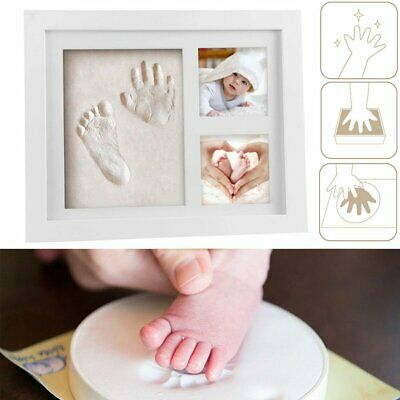 £12.90 • Buy Hand & Foot Print Clay Cast Kit 2 Photo Picture Frame Christening Gifts For Baby