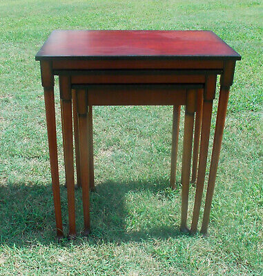 $299 • Buy Mahogany Nesting End Tables / Side Tables By Bombay  (T693)