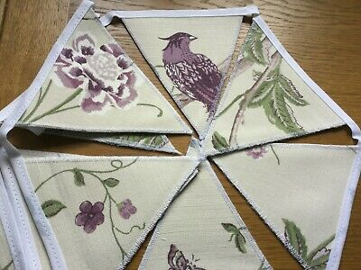 Summer Palace Grape Laura Ashley Handmade Bunting 10 Double Sided Flags • 19.95£