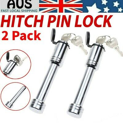 AU24.59 • Buy 2PCS Stainless Steel Hitch Pin Lock Security Tow Ball Bar Caravan Trailer Parts