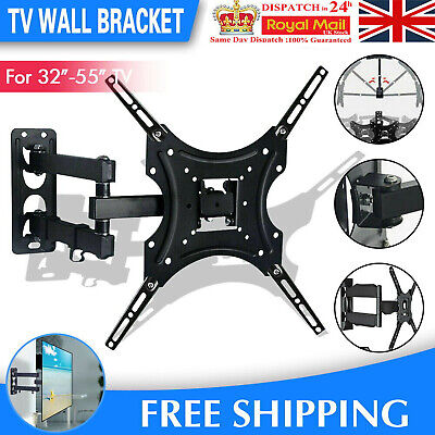 TV Wall Bracket Mount Tilt & Swivel For 32 37 40 42 43 55 50 Inch Monitor LCD UK • 9.89£