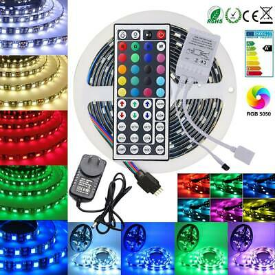 AU18.65 • Buy 5050 RGB LED Strip Lights Waterproof 5m 10m 20m 12V 44key IR Controller Adapter