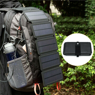 AU35.99 • Buy Portable Solar Mobile Phone Charger Panel Power Bank Waterproof Camping Outdoor