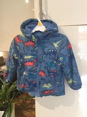 Baby Boys Hooded Rain Jacket Blue Zoo At Debenhams Blue Dinosaur Age 9-12 Months • 4.95£