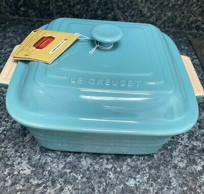 Le Creuset Large Square BLUE Casserole Dish With Lid 3.3L - Brand New With Tag** • 58.99£