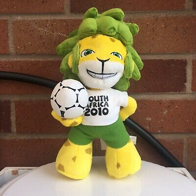 """£13 • Buy South Africa Football World Cup 2010 Soft Toy Official Mascot Zakumi Leopard 10"""""""