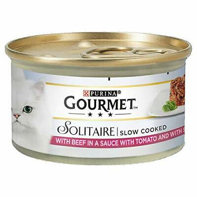 Gourmet Solitaire Beef With Tomato Sauce And Spinach, 85g - Pack Of 12 New • 10.33£