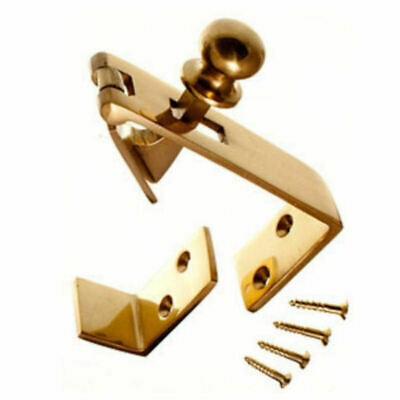 Counter Flap Catch Solid Polished Brass Bar Shop Pub Counterflap + Stay & Screws • 4.89£