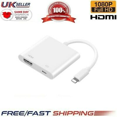 £9.95 • Buy 4K To HDMI Digital Cable Adapter For IPad IPhone X 6 7 8 Plus 11 12  IPad To TV