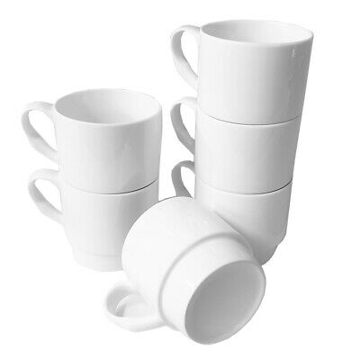 £15.99 • Buy Set Of 6 Stackable Fine Bone China Mugs Gift Boxed For Heat Transfer Press