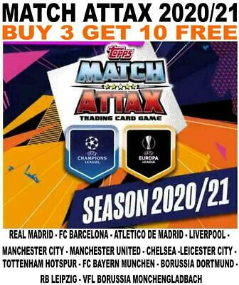Match Attax 2020/21 20/21 Champions League Base Cards - Spain/ England/ Germany • 1.50£