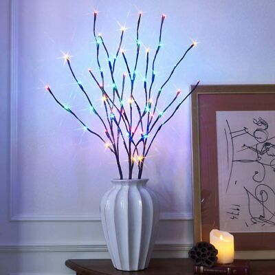 LED Branch Twig Lights Light Up Willow Branches Battery Powered Christmas Decor • 6.89£