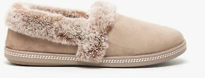 Skechers COZY CAMPFIRE-TEAM TOASTY Ladies Womens House Full Slippers Dark Taupe • 32£