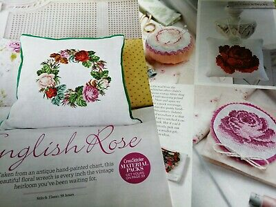 Cross Stitch Chart Vintage Style Roses Garland Flowers Set Charts Only • 1.99£