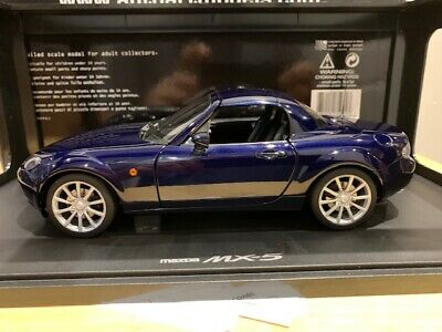 $ CDN399.99 • Buy 1/18 #75974 Autoart Mazda MX-5 2006 Retractable Roof LHD Stormy Blue Diecast WOW