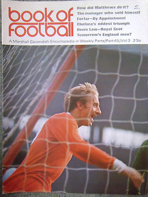 Book Of Football (Marshall Cavendish) 1971 Part 45 Featuring Carlisle United • 3.99£