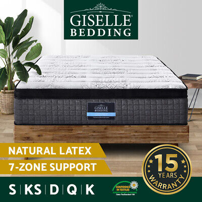 AU229 • Buy Giselle Mattress Queen Double King Single Bed Size 7 Zone Pocket Spring Gel Foam